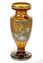 Crystal amphora with gold decor