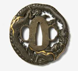Two tsuba with dragon
