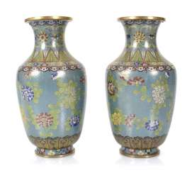 Pair Of CloisonneVases, China