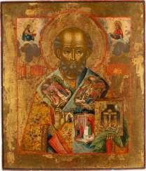 VERY FINE ICON WITH SAINT NICHOLAS OF MYRA Russia