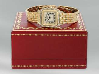Watch: very high quality ladies watch with diamonds, 18K Gold, with original box