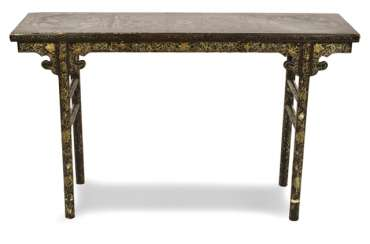 Table with gold paint decoration