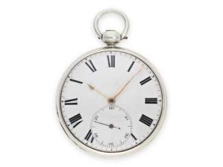 Pocket watch: early, high fine English Observation chronometer with duplex escapement and a very fine factory quality, Hugh McLachlan London No. 835, Hallmarks London 1820