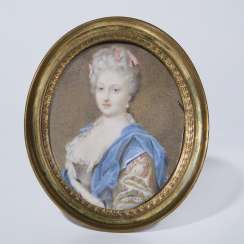 Portrait miniature: lady with stole