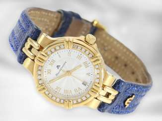 Watch: fashionable Golden women's watch of the Maurice Lacroix brand