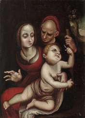 Spain in the style of the early 17th century. Century founder . Holy Family