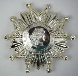 France: order of the Legion of honor, 11. Model (since 1962), Grand officer's star.