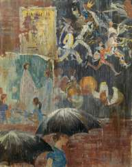 PIMENOV, YURY (1903-1977) Wet Posters , signed with initials and dated 1973.