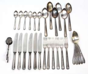 Flatware service for 6 persons, among other things,