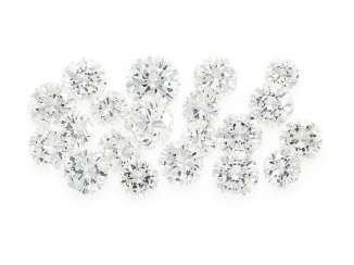 Brilliant: collection of 20 extremely high quality diamonds, top quality together approx. 5,7 ct