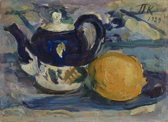 KONCHALOVSKY, PETR (1876-1956) Still Life with a Lemon and a Teapot , signed with initials and dated 1929, also further signed, numbered