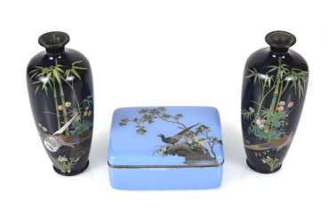 Pair Of CloisonneVases And