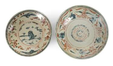 Two Swatow-plate made of porcelain