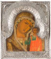 ICON OF THE MOTHER OF GOD OF KAZAN (KAZANSKAYA) WITH SILVER RIZA