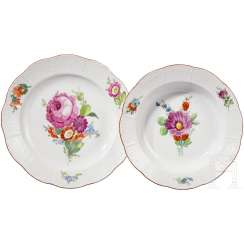 Two plates from the everyday Service, reign of the Empress Catherine II., Russia, 2. Half of 18. Century