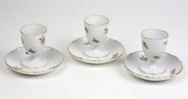 Meissen Set Of Egg Cups *Flowers*