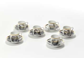 Coffee service composed of six cups and saucers of the series