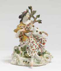 Diana with Meissen hunting dog, mid-18th century