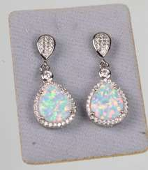 Opal ring earrings
