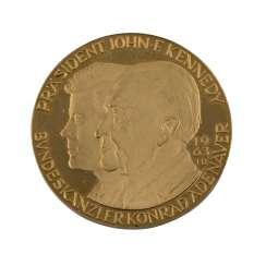 Gold medal - Kennedy and Adenauer, 1963,
