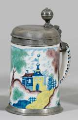Berlin reels pitcher with landscape decoration