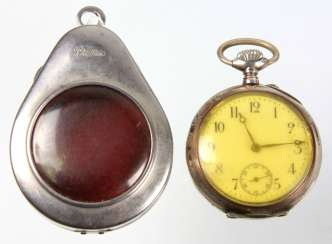 silver men's pocket watch