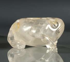 Three-legged toad, made of mountain crystal as tuschwasser dropper