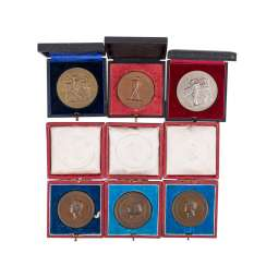 Collection of agricultural awards, Württemberg 19./20. Century. -