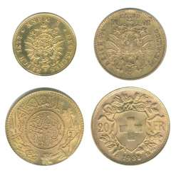 4 gold coins