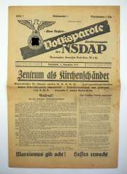 National parole special edition of the NSDAP. Choice number 1.