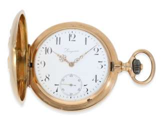 Pocket watch: heavy, red-gold Savonnette,