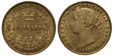 AUSTRALIA 1 SOVEREIGN 1870 VICTORIA