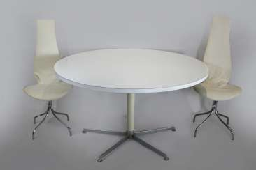 Design furniture, round dining table with 8 chairs
