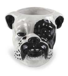 CACHEPOT, ENGL. Bulldog,. REFERRED TO IN ITALY, BLACK-AND-WHITE
