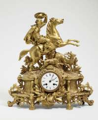 Mantel clock with Hirschhatz
