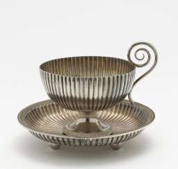 Bouillon cup with saucer. Paris, 1798-1809, Marc Jacquart