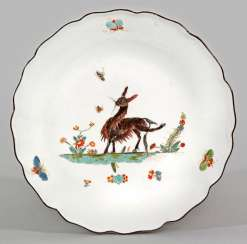 Bowl with painting by Anton Friedrich from-the-lion-Fink