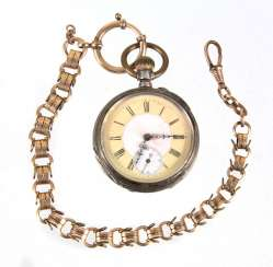 Mens pocket watch silver 800, and other