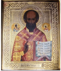 The icon of Nicholas the miracle-worker of the XIX-th century