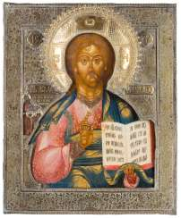 LARGE-FORMAT ICON WITH CHRIST WITH RIZA Russia