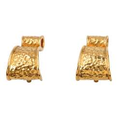 YVES SAINT LAURENT VINTAGE FASHION JEWELRY clip-on earrings.