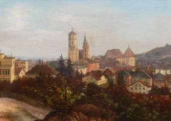 Wangner, C.: view of Stuttgart.