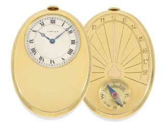 Pocket watch: one of the rarest Cartier watches from the Art Deco period, the