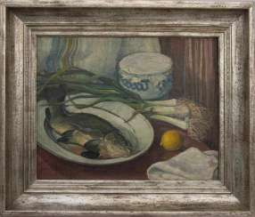 HERMANN SCHÖLLHORN: STILL LIFE WITH CARP