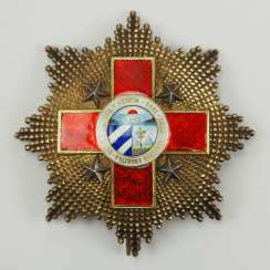 Cuba: Order of Honor and Merit (Order of the Red Cross), 1st model, Grand Cross star.