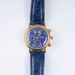 Men's wristwatch with moon phase and date display