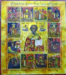 Nicholas the Wonderworker with scenes from his life