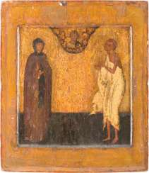 FINE ICON WITH TWO SAINTS