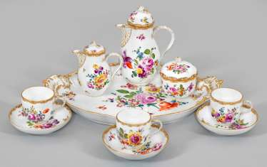 Small coffee service with floral decoration