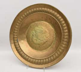 Eller ADORNS, brass engraved/ornamented, marked, North Africa 1. Half of the 20. Century